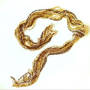 Long Tassel Multi Strand Necklace